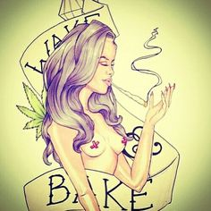 Wake and bake ( marijuana cannabis )