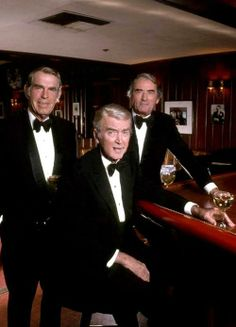 Fred MacMurray, Jimmy Stewart and Gregory Peck, 1980