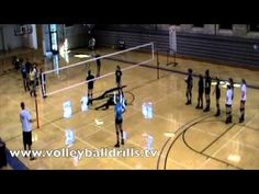 Step 1. Passer is using platform only to pass to setter. Setter must set the ball to the server, who bumps it over to the passer continuously. The goal is to keep it going for 1 min. Keep starting over and trying till you get it for a minute.   Step 2.  passer is using hands only. 1 min.  Step 3. (Very tough). The difference is that the server i...
