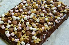 Teki mieli jotain oikein suklaista ja silloin muistin tämän ohjeen. Suolapähkinät tasapainottavat sopivasti leivonnaisen makeutta, mutta sil...