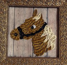 Quilling Young Filly by QuillingByBetty on Etsy, $39.99