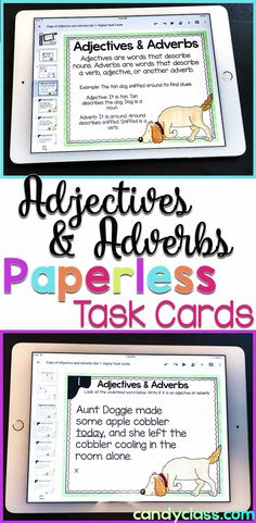 Shades of Meaning Digital Task Cards - Paperless for Googl Vocabulary Activities, Writing Activities, Teaching Vocabulary, Language Activities, Reading Resources, Student Teaching, Preschool Activities, 3rd Grade Classroom, Primary Classroom