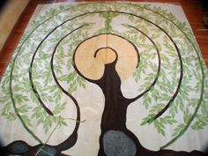 My Labyrinth - Tree of Souls - An Avatar Community Forum Labyrinth Walk, Labyrinth Garden, Bonsai, Prayer Stations, Labrynth, Ancient Symbols, Diy Canvas, Maze, Quilting Designs