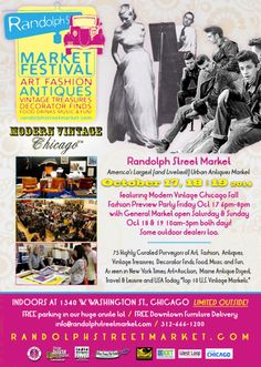 MODERN VINTAGE CHICAGO Friday Night Early Buying Preview Party October 17, 2014 / 6pm-8pm