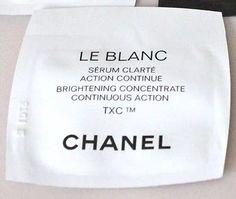 2X CHANEL LE BLANC BRIGHTENING CONCENTRATE CONTINUOUS ACTION SKINCARE 1ml Each