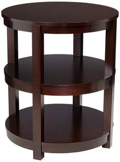Emma 3-Shelf Espresso Wood End Table | 55DowningStreet.com