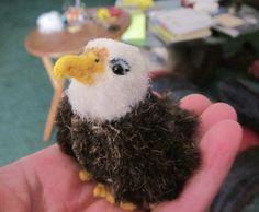 stuffed eagle crafts | Miniature Bald Eagle plush one of a kind by hayseedbears on Etsy