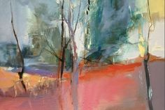 "Open Arms-Abstract Landscape by Joan Fullerton Oil ~ 20"" x 30"""