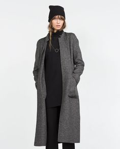 Zara Regular Size M Coats, Jackets & Vests for Women for sale Winter Mode Outfits, Winter Fashion Outfits, Autumn Winter Fashion, Trendy Outfits, Cool Outfits, Minimal Outfit, Minimal Fashion, Zara, Long Coat Outfit