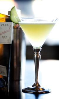 Uncle Val's Botanical Refresher: Uncle Val's Botanical Gin, St. Germaine, Lime Juice, Mint, Cucumber