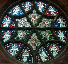 [15480] St Edward, Leek : Rose Window North