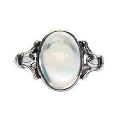 Willowbrook is a pretty vintage Edwardian era ring featuring a pretty transparent oval opal from Trumpet & Horn! // $2,600