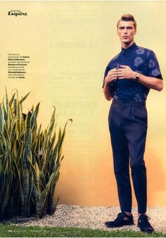Clément Chabernaud photographed by Alfonso Ohnur and styled with pieces from Givenchy, Loewe, Prada and many more, for the February 2013 issue of Esquire España.