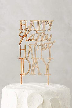 Happy Day Cake Topper - anthropologie.com