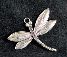 Jumbo!  Silver Plated Dragonfly Charm by #TEN36Designs on Etsy, $1.00