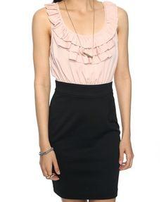 F21 $19.80 Ruffle Neckline Dress