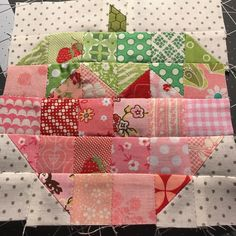 #scrappystrawberryblock So ready to be done with this #vintagefarmgirlquilt !!!!