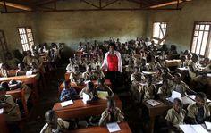 École primaire Ave Marie à Bujumbura, la capitale du Burundi.
