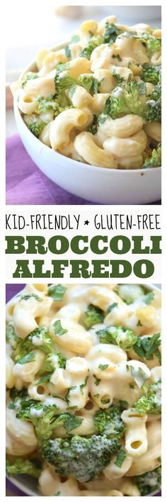 A kid-friendly (and healthier) version of an Italian pasta classic! This Homemade Gluten Free Broccoli Alfredo will be a new family favorite dinner!