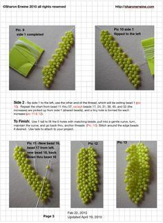 sharon erwine.com Diagonal Peyote - fREE (Russian leaf)   'Really useful tutorial, thank-you'