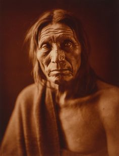 Native American 'Big Head', Edwin Curtis photographer 1910. awesome photo