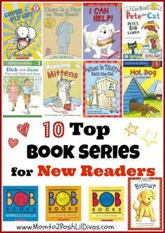 Mom to 2 Posh Lil Divas: 10 Early Readers for Beginning Readers {Get Ready for K Through Play}