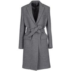 Mauro Grifoni Coat (710 CAD) ❤ liked on Polyvore featuring outerwear, coats, grey, flannel coats, grey coat, gray coat, single breasted coat y long sleeve coat