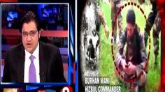 Arnab Goswami on Burhan Wani & Kashmir