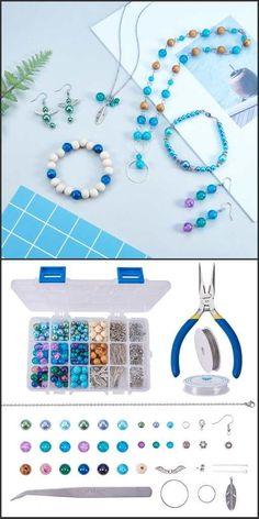 #SUNNYCLUE jewelry making starter kit for beginners - #Beebeecraft product #jewelrymaking