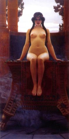 The Delphic Oracle by John William Godward 1899