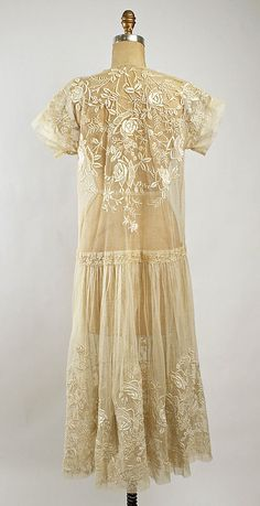 Embroidered cotton dress, c.1920