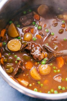 Frugal Food Items - How To Prepare Dinner And Luxuriate In Delightful Meals Without Having Shelling Out A Fortune This Simple Instant Pot Beef Stew Can Be Ready In A Fraction Of The Time That Beef Stew Typically Takes Thanks To The Pressure Cooker. Canned Roast Beef Recipe, Roast Beef Recipes, Beef Meals, Chili Recipes, Crockpot Recipes, Sausage Potato Soup, Sausage Stew, Homemade Dinner Rolls, Healthy Dinner Recipes
