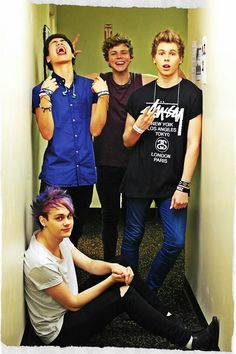 Calum, Ashton, Luke, & michael(: 5 seconds of summer