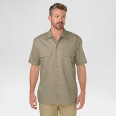 Dickies Men's Original Fit Short Sleeve Twill Work Shirt-