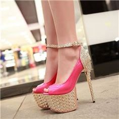 Sexy PU Cut-Outs Rhinestone and Sequins Platform Sandals          USD $58.59 http://www.coupon4free.com/stores/ericdress-com/