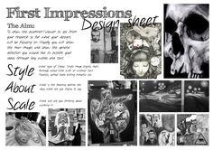 KS4 First Impression Sheet | Sketchbook Presentation Skills