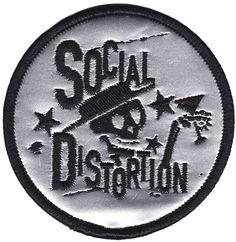 SOCIAL DISTORTION SILVER SKELLY PATCH