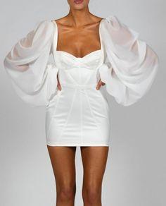 Glam Dresses, Satin Dresses, Elegant Dresses, Pretty Dresses, Beautiful Dresses, Fashion Dresses, Elegant White Dress, Casual Dresses, White Dress Outfit