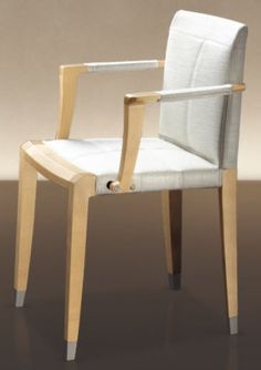 Contemporary chair / with armrests / fabric / leather ARO by Chi Wing Lo GIORGETTI