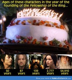 Ages in lord of the ring