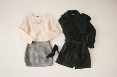 Winter outfit featuring a skirt