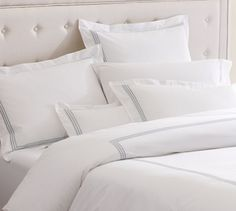 Grand Embroidered 280-Thread-Count Duvet Cover & Shams | Pottery Barn |  $99 for Queen Duvet