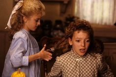 Sara cutting Felicity's hair (Road to Avonlea)