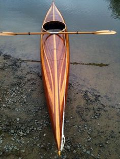 "- Guillemot ""L"" Strip-Built Sea Kayak. Wooden kayaks are just sexy. Kayak Camping, Canoe And Kayak, Kayak Fishing, Sea Kayak, Kayak Boats, Canoe Trip, Fishing Boats, Kayaks, Cool Boats"
