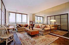 "Home Room Divider — 1.5"" Frame, Walnut Finish, Continental Design, Milky Glass"