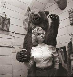 Marilyn Monroe, and a bear...