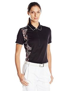 Callaway Womens Golf Performance Short Sleeve Paisley Print Polo Shirt Caviar Medium >>> Check out this great product. Note:It is Affiliate Link to Amazon.