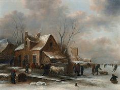 WINTER LANDSCAPE WITH A HORSE-DRAWN SLEIGH - Kunsthaus Lempertz
