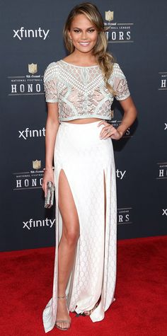 Look of the Day - February 2, 2015 | InStyle.com Chrissy Teigen in Temperley London