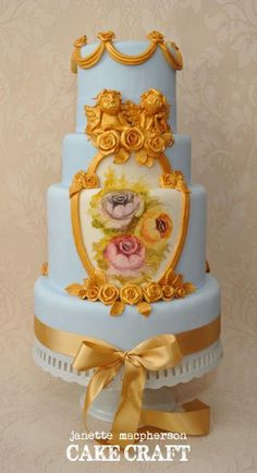 rococo cake design | Found on cakesdecor.com